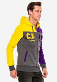 18CRR81 Cerruti - Zip-up hoodie - antraciet-geel - 1