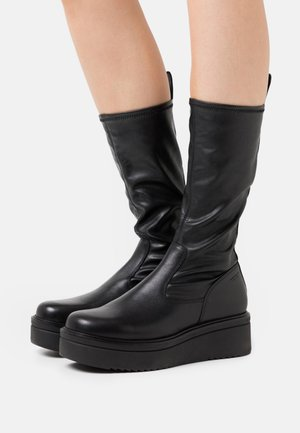 TARA - Wedge boots - black