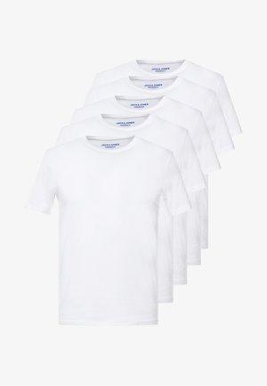 JORBASIC 5 PACK  - Basic T-shirt - only white