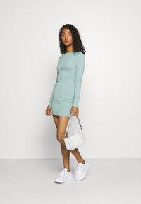 Missguided - BRANDED CORSET WAIST DRESS - Vestido de tubo - blue - 1