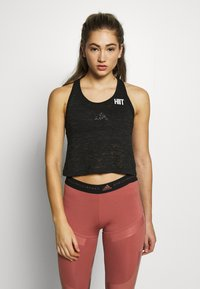 HIIT - BURNOUT CROPPED VEST - Toppe - black - 0