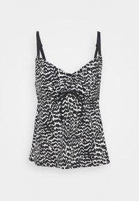 LASCANA - WIRE TANKINI - Bikini top - black/creme - 3
