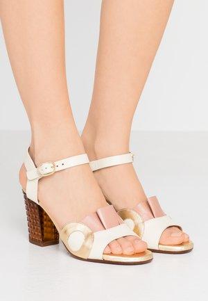 KAELA - High heeled sandals - jansen leche/goya nude/shaddai oro