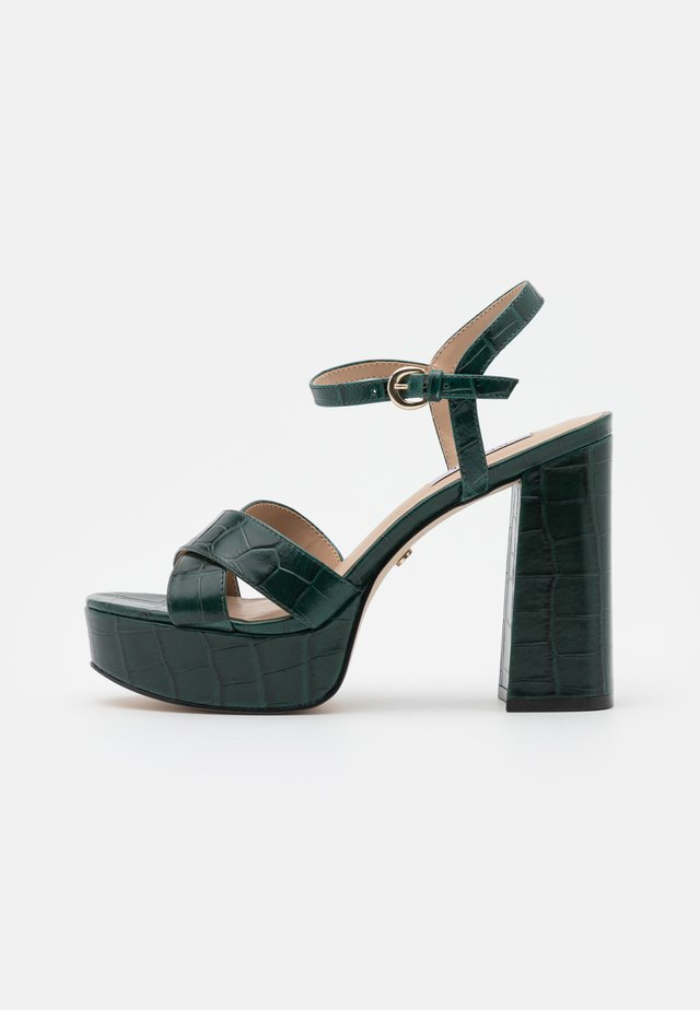 HIGHLIGHT CROSS STRAP PLATFORM  - Platform sandals - green