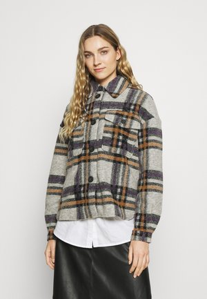 VMCHRISSIE SHORT CHECK SHIRT - Light jacket - hyacinth/tobacco brown/black