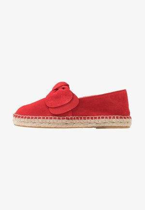 LEATHER - Espadrilles - red