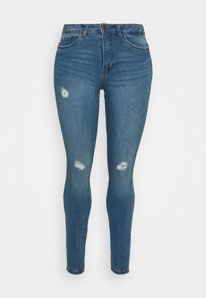 VMLORAMINA  - Jeans Skinny Fit - medium blue denim