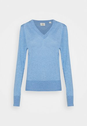 LIGHTWEIGHT WITH FITTED WAIST AND V-NECK - Trui - sky blue melange