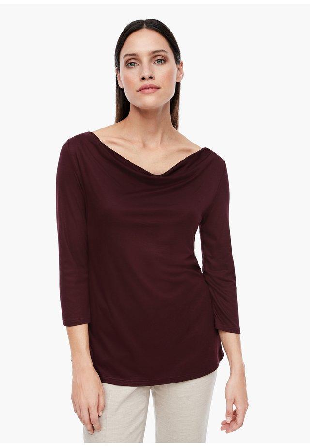 Long sleeved top - plum
