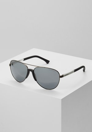 Sunglasses - matte gunmetal/ light grey