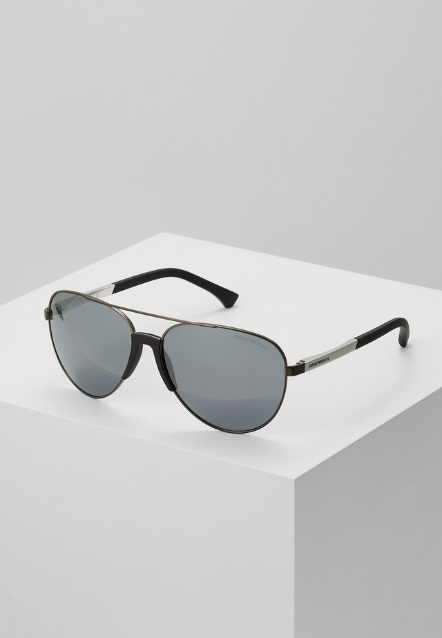 Sonnenbrille - matte gunmetal/ light grey