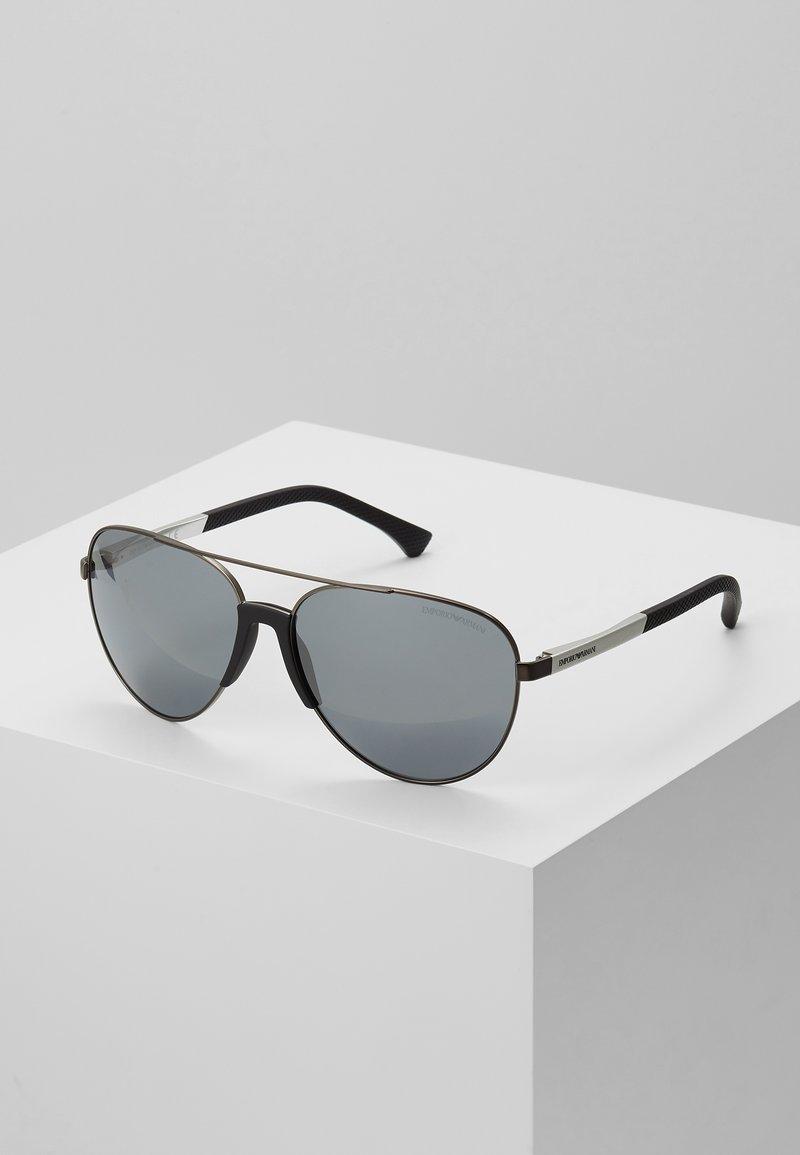 Emporio Armani - Sunglasses - matte gunmetal/ light grey