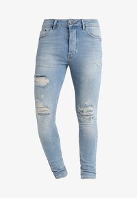 Gym King - DISTRESSED - Jeans Skinny Fit - light wash blue - 4