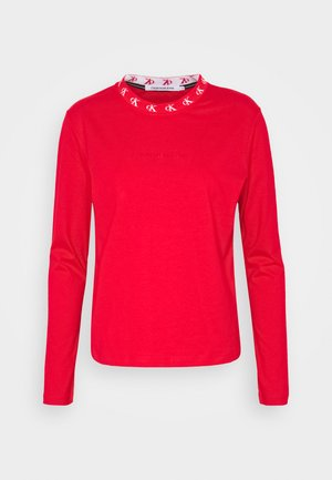 LOGO TRIM TEE - T-shirt à manches longues - red hot