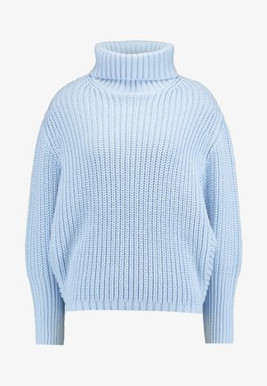 BATWING ROLL NECK - Jumper - blue