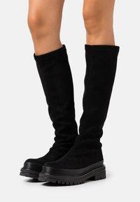 Bianco - BIADICY LONG BOOT - Platform boots - black - 0