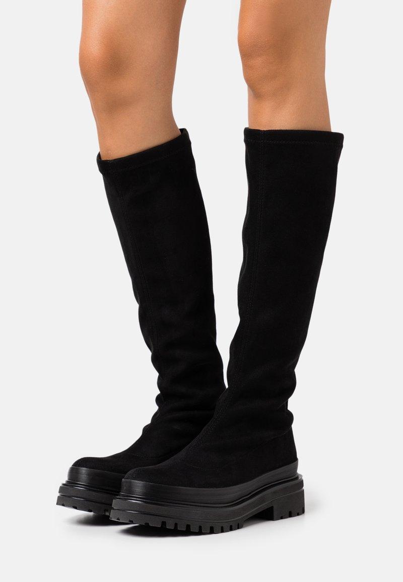 Bianco - BIADICY LONG BOOT - Platform boots - black