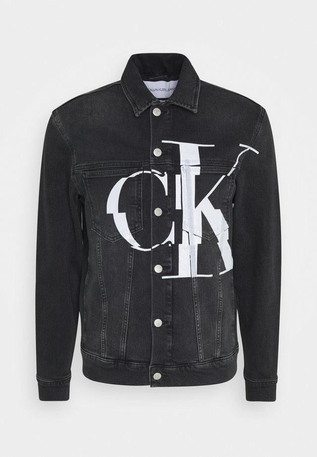 POCKET JACKET - Veste en jean - black