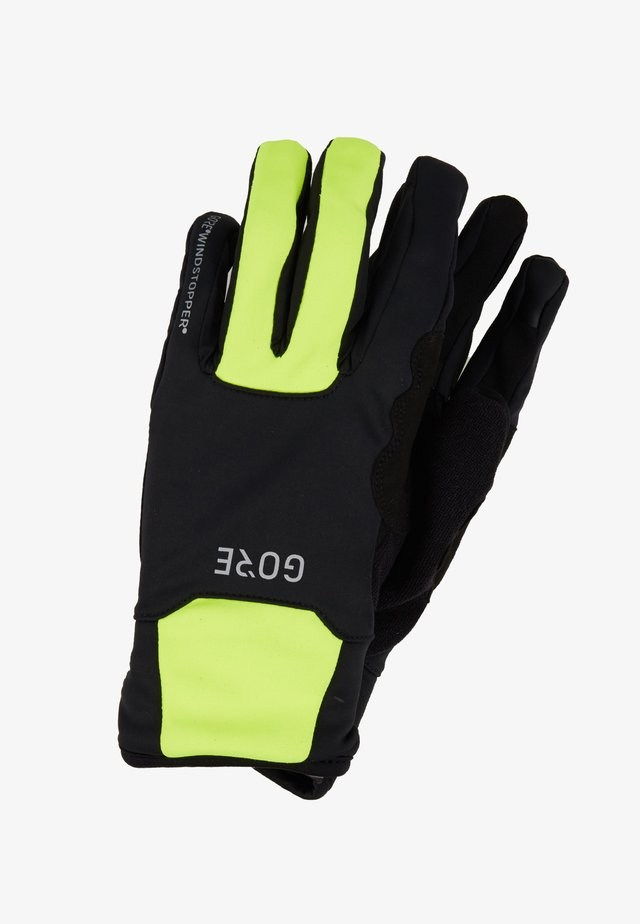 THERMO - Kortfingerhandsker - black/neon yellow