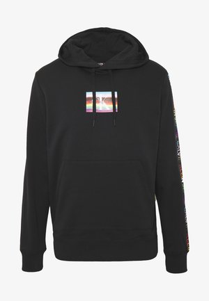 SMALL FLAG REGULAR HOODIE UNISEX PRIDE - Jersey con capucha - black