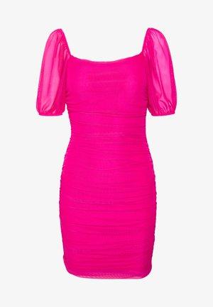 SQUARE NECK PUFF SLEEVE MINI DRESS - Kjole - pink