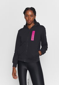 Calvin Klein Performance - FULL ZIP HOODY - Zip-up hoodie - black - 0