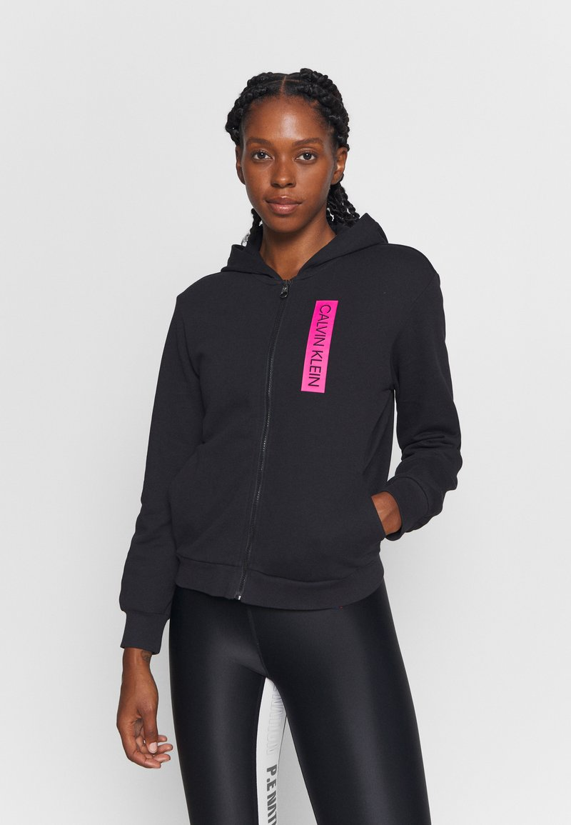 Calvin Klein Performance - FULL ZIP HOODY - Zip-up hoodie - black
