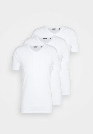 ONSBASIC LIFE 3 PACK - T-shirt - bas - white