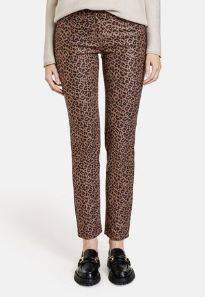 MIT LEODESSIN - Straight leg jeans - camel/braun
