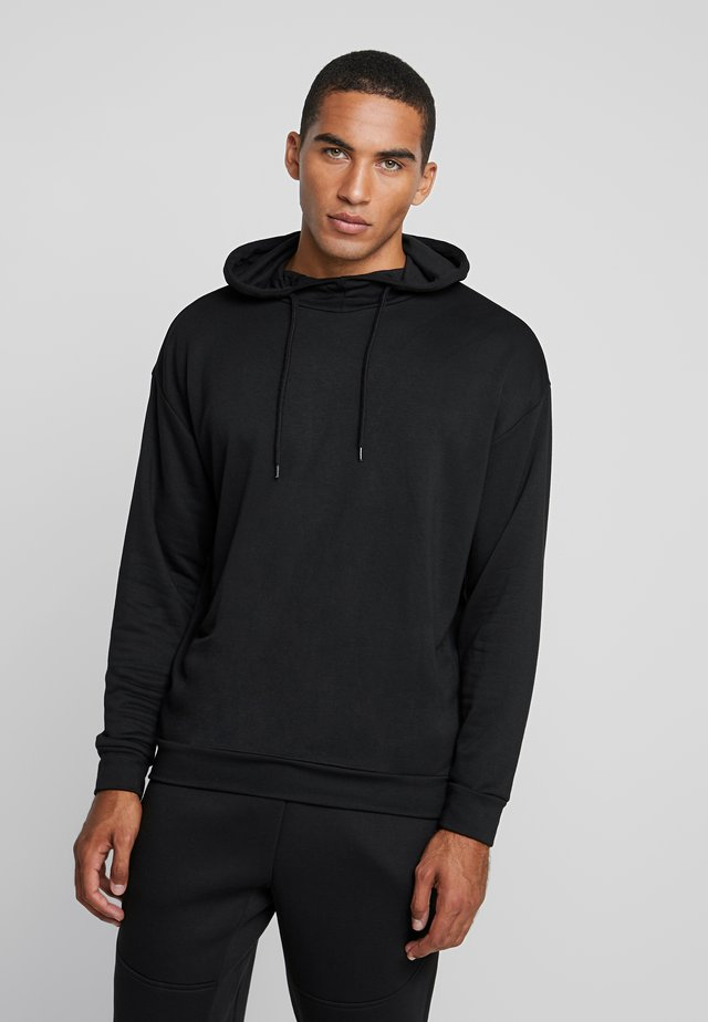 TERRY HOODY - Huppari - black