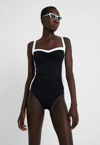 JETS Australia - BANDED - Swimsuit - black/white - 1