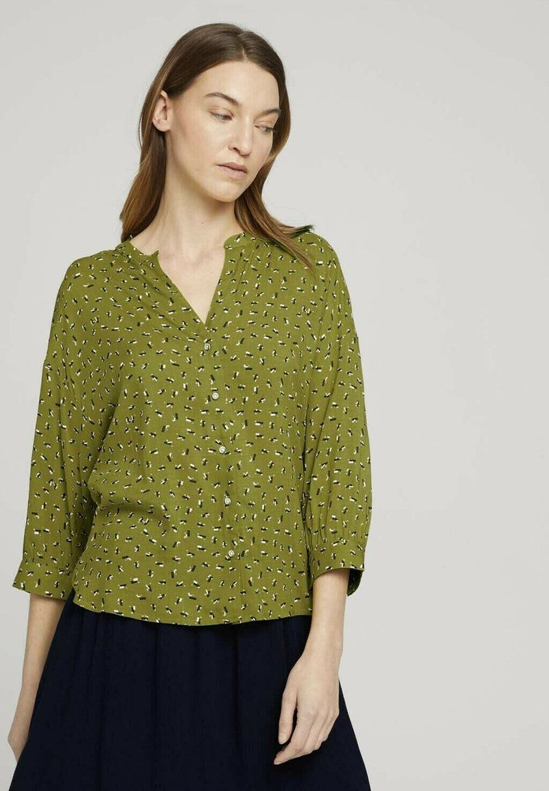 TOM TAILOR - Blouse - green geometrical design