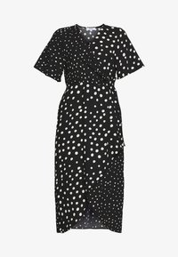 Dorothy Perkins Petite - MONO SPOT MIDI DRESS - Day dress - black - 3