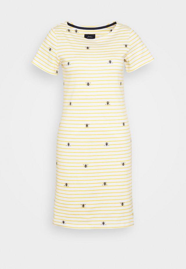 RIVIERA PRINT - Jersey dress - white/dark yellow