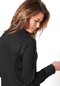 DESOTO - Button-down blouse - black uni - 2