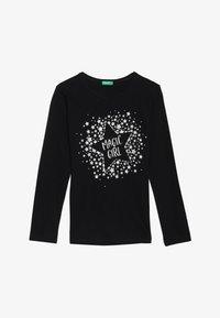 Benetton - Langærmede T-shirts - black - 2