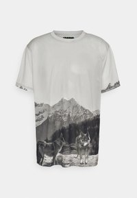 Urban Threads - MOUNTAIN UNISEX - Print T-shirt - light grey - 0
