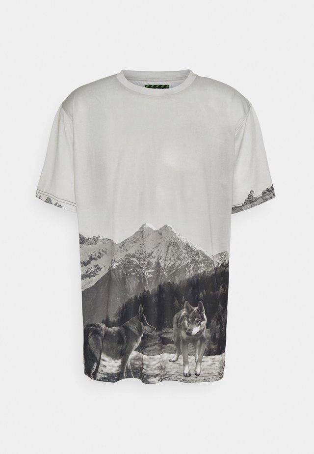 MOUNTAIN UNISEX - Print T-shirt - light grey