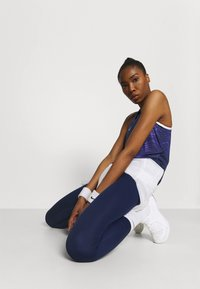 Nike Performance - TANK - Treningsskjorter - black/lapis/metallic silver - 3