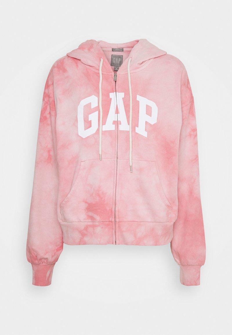 GAP - ABBREVIATED - Zip-up sweatshirt - pink