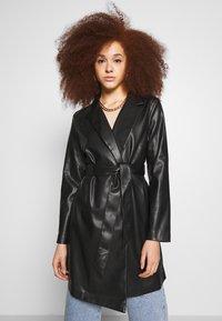 Gina Tricot - VAL BLAZER DRESS - Košilové šaty - black - 0