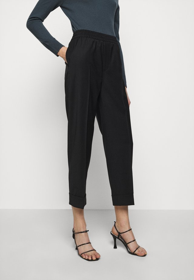 FRANCA COOL TROUSER - Kangashousut - black