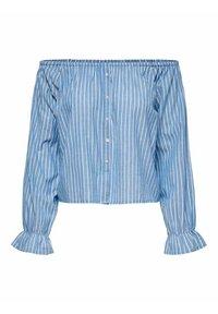 ONLY - ONLMARTHA OFFSHOULDER - Blouse - cashmere blue/cloud dancer - 9