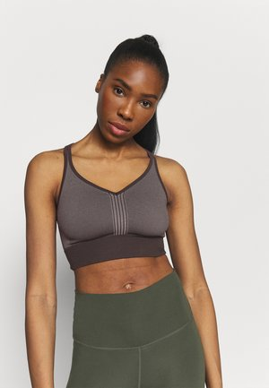 SEAMLESS  - Light support sports bra - berlin brown