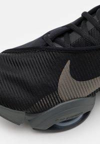 Nike Performance - AIR ZOOM SUPERREP 2 UNISEX - Sports shoes - black/mtlc pewter-iron grey-mtlc pewter - 5