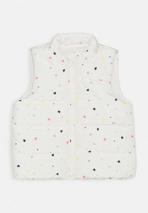 TODDLER GIRL PUFFER VEST - Vest - white