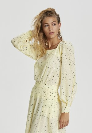 Long sleeved top - afterglow dot print