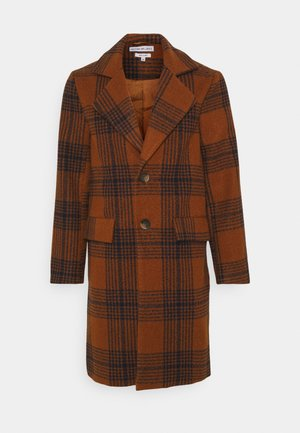 JACE CHECK OVERCOAT - Classic coat - tan
