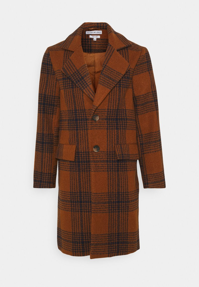 Another Influence - JACE CHECK OVERCOAT - Classic coat - tan