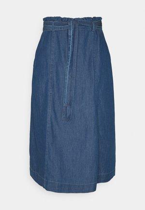 JDYBELLA LIFE ABOVE CALF SKIRT - A-line skirt - medium blue denim